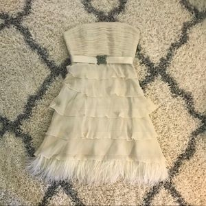 BGBG Max Azria cream strapless dress